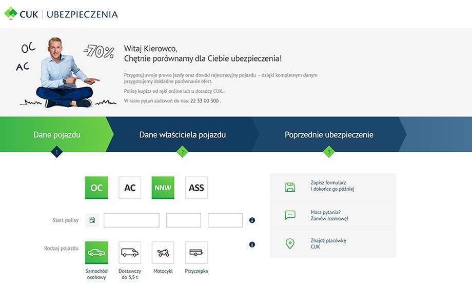 Cuk.pl - Jak wygląda kalkulator, porównywarka OC, AC?